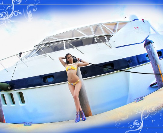quinceanera yacht photo shoot