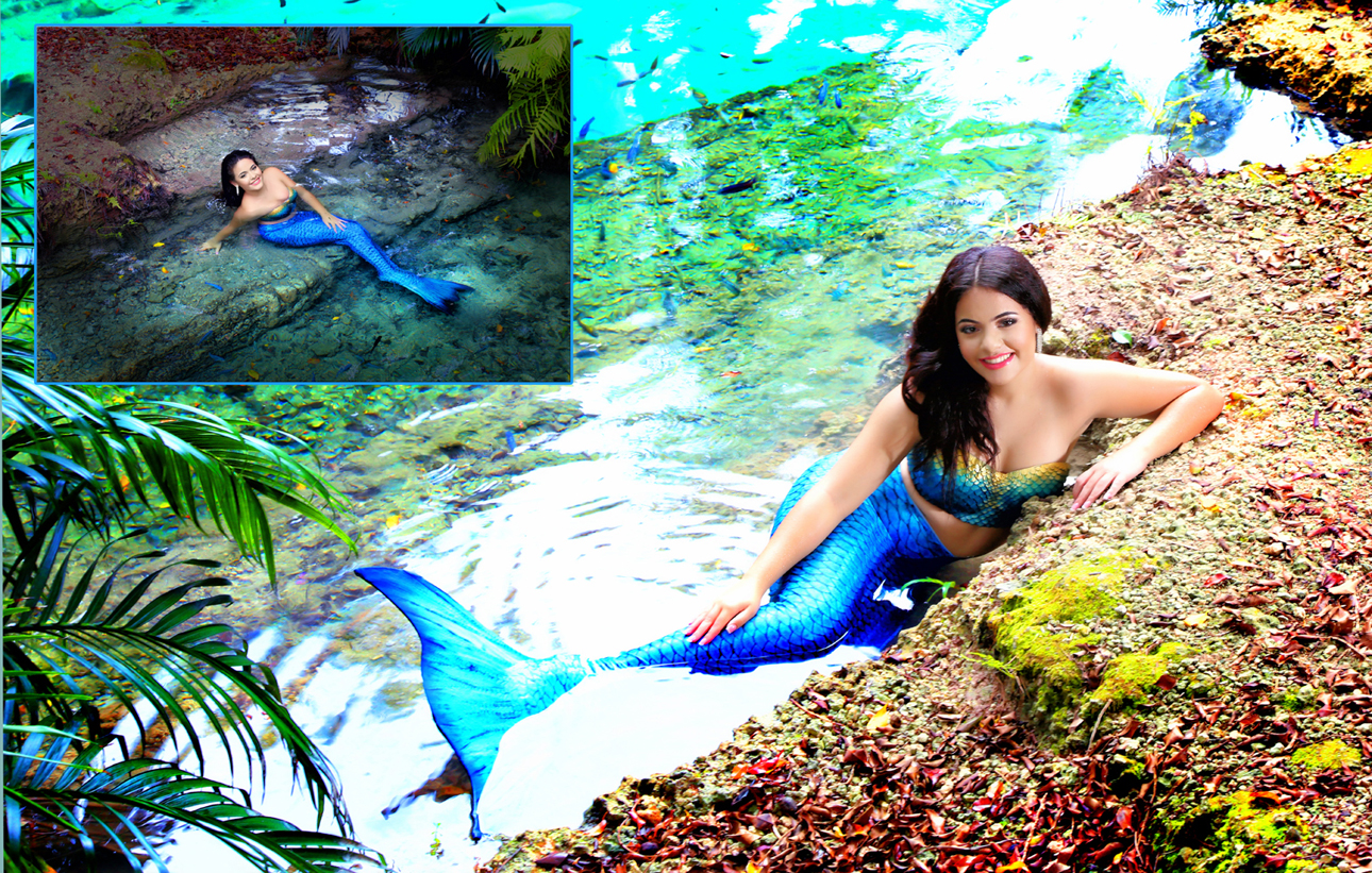 Quinceanera Photo shoot mermaid montage