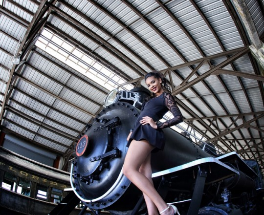 Quinceanera Train Photo Shoot