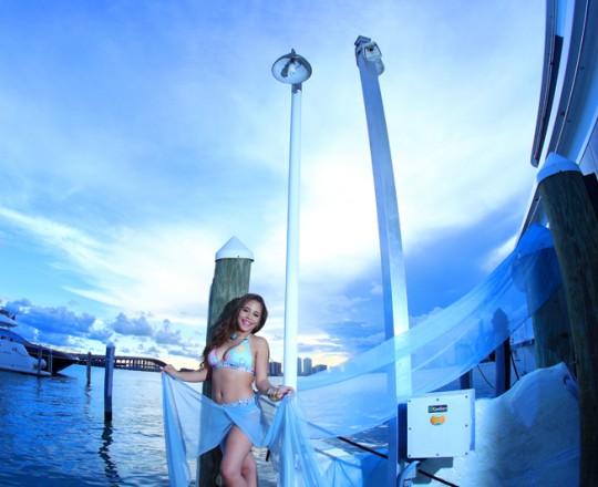 quinceanera yacht beach cityscape photo shoot