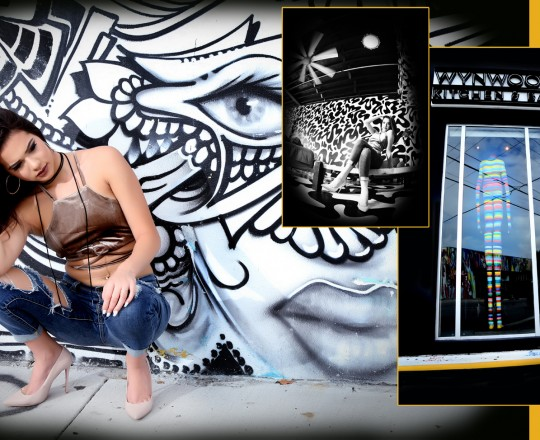 Quinceañera Photography WynwoodUrban Graffiti Sweet Sixteens Fifteens